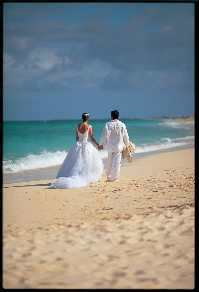 sandals beach destination wedding - wedding couple
