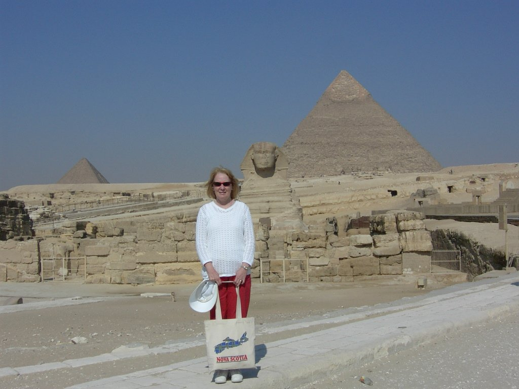 Deb in front of the sphinx